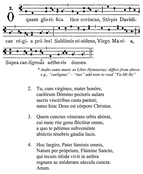 O quam glorifica JPEG from Liber usualis only verse 1